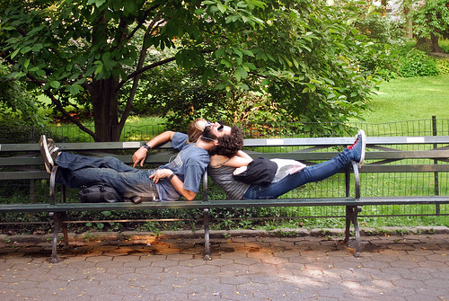 Couple Intertwined - Central Park.