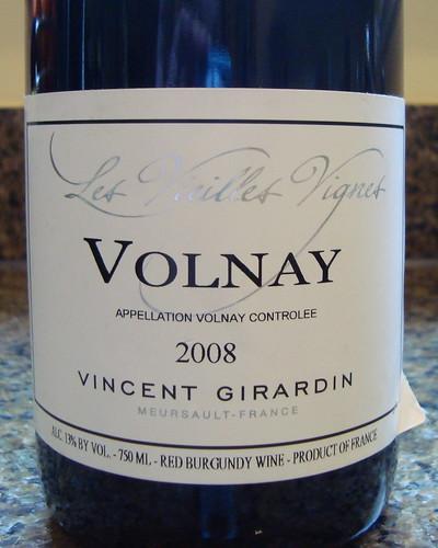 2008 Vincent Girardin Les Lieilles Vignes Volnay