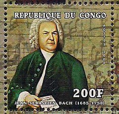 Bach on Stamps - Republic of Congo, 2000 (renzodionigi) Tags: music bach baroque composers