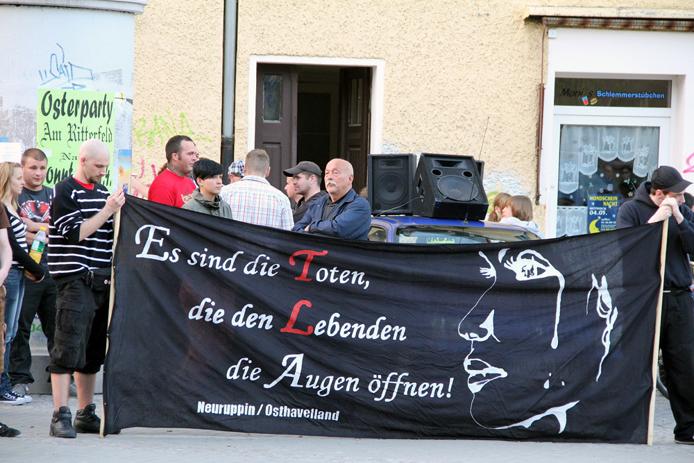 Neonazi-Kundgebung in Nauen