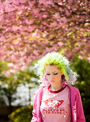 Day 143 of 365 - Year 2 (wisely-chosen) Tags: pink selfportrait me bokeh blossoms april canon50mmf18 pinkhair bluehair greenhair cameraraw yellowhair 2011 365days kwanzancherrytree lavenderhair naturallycurlyhair manicpanicredpassion manicpanicultraviolet manicpanicshockingblue manicpanicelectricbanana curlformers adobephotoshopcs5extended herbalessencestouslemesoftlyconditioner proclaimarganoilhairoiltreatment itsa10miraclehairmask