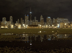 Chicago skyline at night, former Cabrini Extension South (GXM.) Tags: poverty street urban chicago skyline night housing change gentrification transition oldtown cha streetphotos welfare goldcoast cabrinigreen chicagoist gxm 2011 planfortransformation littlesicily chicagostreetphotography littlehell