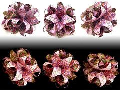 Conar 24 of Fleur de Lis units by Ekaterina Lukasheva (Aneta_a) Tags: collage origami planar modularorigami kusudama octahedralsymmetry lukasheva ekaterinalukasheva
