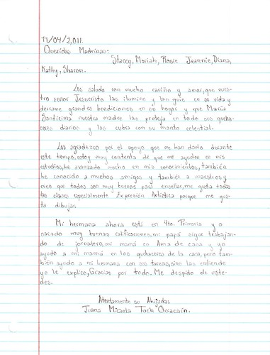 JuanaTuch 1st quarter letter