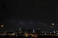 Dallas Lightning - April 23rd, 2011 (mycatfredisfat) Tags: building green weather clouds buildings dallas downtown texas tx saturday 11 april thunderstorm cbd 23 lightning sat lightening 23rd apr severe lightin 2011 canon7d canon1585mm bankofamericantower