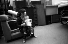 Kodak 5231@200, HC110, 7m30s (singleye_512) Tags: life china people blackandwhite bw woman monochrome moving chair nikon child shanghai kodak documentary hc110 pointandshoot plusx huangpu 5231 28ti