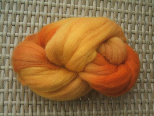 Hand dyed merino