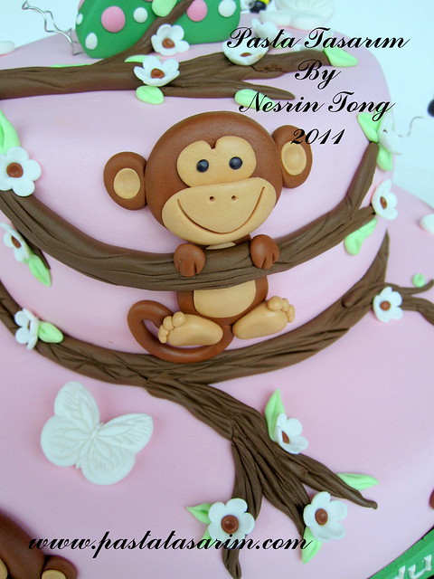 LITTLE MONKEY CAKE - DEFNE 2ND BIRTHDAY CAKE
