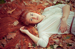Fall (Fenanov) Tags: autumn red brown fall nature natural redhead otoo cami redhair kx pentaxkx udec 50mm17 fenanov fenanovfotografas cafrojo