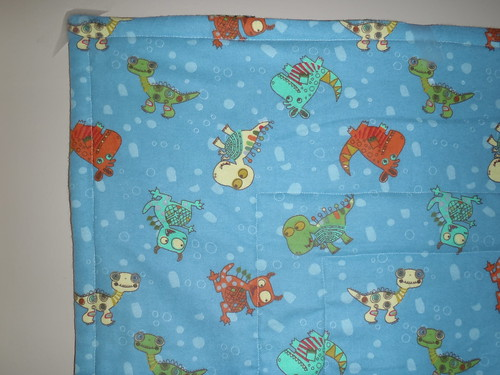 Monster Baby Quilt - Quilting Closeup