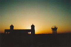 (The Integer Club) Tags: sunset shadow film silhouette 35mm dusk citadel watertower soviet uzbekistan bukhara fortress minarets canoneos300