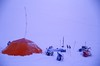 Camp with Soviet tent (Weber Arctic Expeditions) Tags: ice richard misha weber northpole frostbite arcticocean polarexpedition malakhov wardhuntisland fischerskis polarbridge polartraining capearkticheskiy dimitrishparo shparo