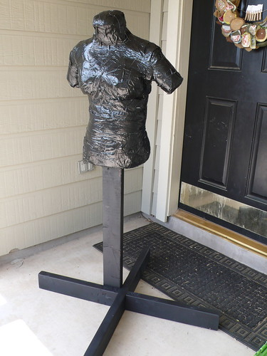 Completed duct tape dress form