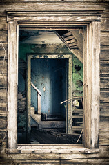 Home to the Shadows (jeffsmallwood) Tags: morning light shadow house abandoned broken window stairs sunrise dawn shadows decay creepy spooky hdr spook dessicate