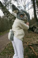 Bunny im Wald (muetzenzwergli) Tags: bunny wool fetish easter fur costume soft dick handknit grau plush suit ostern plsch balaclava fell easterbunny hase bunnysuit overall hasenohren ohren fursuit hinten osterhase happyeaster wolle fetisch weich petplay bunnycostume bunnyhood woolfetish wollfetisch handgestrickt hasenkostm kuschelhase hasenschwnzchen bunnykostm bunnyschwnzchen