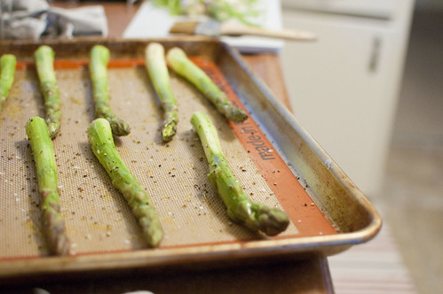 thick asparagus spears
