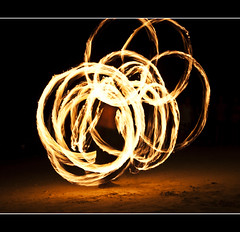 Don't try this at home.. (PNike (Prashanth Naik)) Tags: longexposure music art beach island fire nikon nightshot philippines bohol firedancer traditionaldance pnike