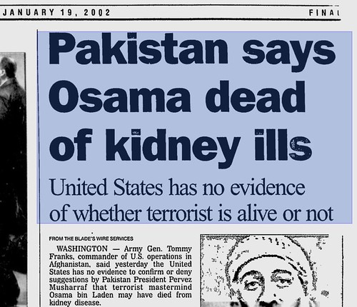 Osama bin Laden Dead from Kidney Disease