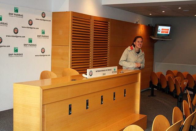 Roland Garros interview room