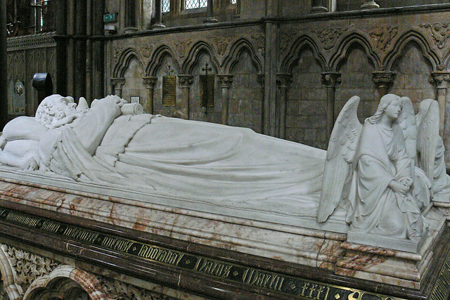 Victorian Tomb Lord Lyttelton by James Forsyth Sculptor