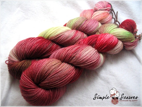 Handdyed Superwash Merino Yarn - English Tea Garden