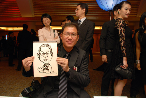 caricature live sketching for Great Eastern Achievers Nite 2011 - 1