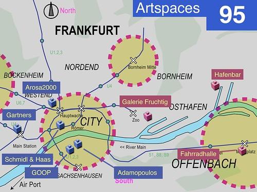 Karte Kunsträume in Frankfurt und Offenbach 1995