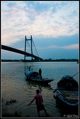 Hoogly River (ujjal dey) Tags: boats evening dreams kolkata ujjal 2ndhooglybridge nikond90 hooglyriver ujjaldey ujjaldeyin