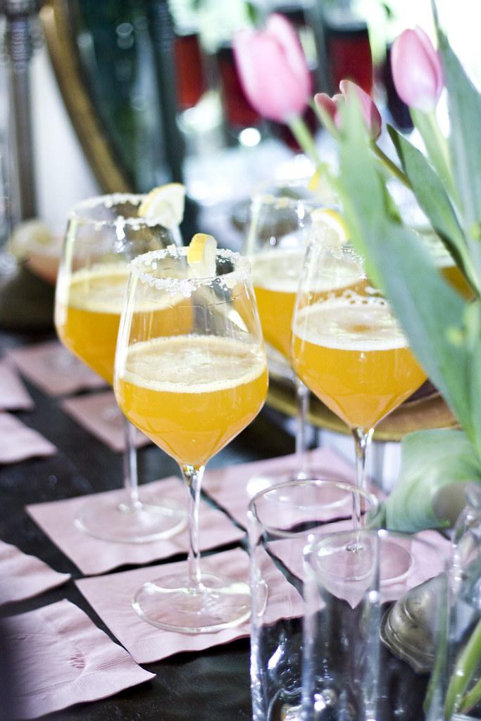Sparkling Cider with Cara Cara Orange Punch