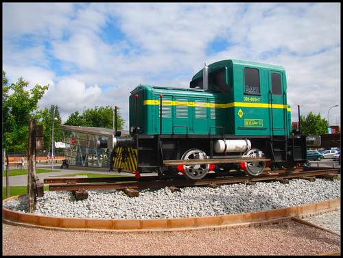 Locomotora en Getafe