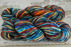 """Midnight Pool"" 7.7oz 2ply Delaine Merino (worsted)"