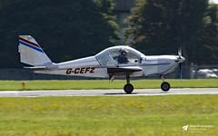G-CEFZ Evektor EV-97 Eurostar, Robo Flying Group, Cotswold Airport, Kemble, Gloucestershire (Kev Slade Too) Tags: gcefz evektor ev97 eurostar roboflyinggroup egbp kemble cotswoldairport gloucestershire