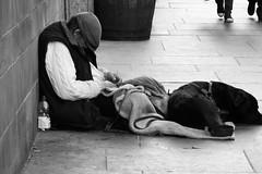so tired of it all (byronv2) Tags: edinburgh scotland oldtown blackandwhite blackwhite bw monochrome man dog street candid peoplewatching sleeping snooze asleep begging vagrant tramp homeless blanket royalmile edimbourg people sit sitting seated
