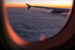 Sunrise from the plane - Travel photography