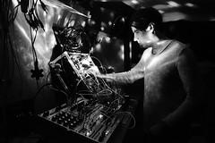I am Normalien. (tangent) Tags: me selfportrait self music studio eurorack modular synth bw blackandwhite lowerhaight sanfrancisco