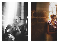 equinox en vogue. (karrah.kobus) Tags: light portrait fashion stone canon diptych soft models stairway romantic