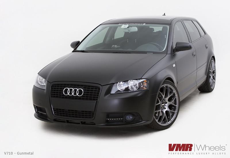 Matte Black Audi A3 Shoot