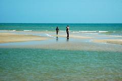 plage de cherating malaisie (ichauvel) Tags: blue sea mer beach sand asia sable malaysia asie plage cherating malaisie
