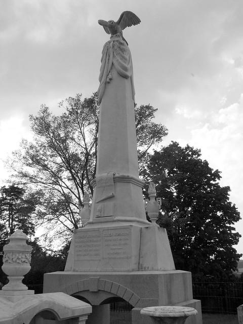 President Andrew Johnson Gravesite 3: B&W