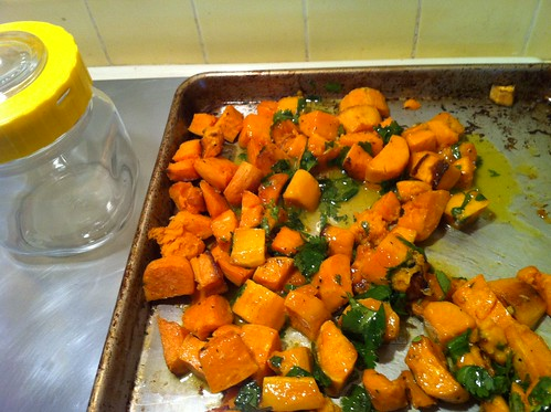 sweet potatoes with orange and cilantro glaze