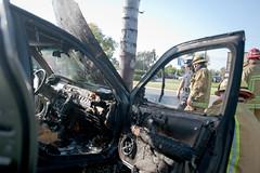 Spot news Fullerton, CA (Lucio_V) Tags: fire nikon smoke toyota brakes dennys fullerton camry lucio caraccident fpd spotnews dailytitan