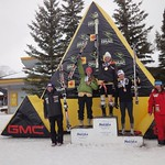 Women's Giant Slalom Junior Podium at Nakisak GMC Canadian Championships 2011 - Celine Rytz (BCST/Fernie Alpine Ski Team) 4th Junior