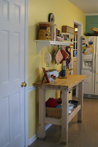 Butcher Block and Shelf 2