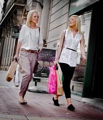 Tempting Chicks (pickup2sticks 4.34 million views) Tags: street city nottingham ladies urban shopping nikon women candid blondes sunny bags classy gils dcpc d7000 gjkerr