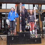 Miele Panorama Spring Series - Ladies Giant Slalom #1 - J1 Podium PHOTO CREDIT: Gregor Druzina