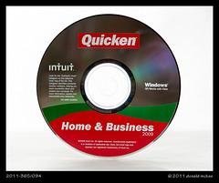 2011-365/094 - Quicken (DonMcKee) Tags: cd whitebackground onwhite 2009 intuit quicken project365 strobist 3652011 homeandbusiness 2011365apr