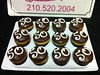"""50th birthday cupcakes • <a style=""""font-size:0.8em;"""" href=""""http://www.flickr.com/photos/40146061@N06/5593910274/"""" target=""""_blank"""">View on Flickr</a>"""