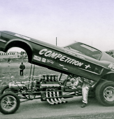 Photos Of Dick Brannan Mustang Drag Cars: The Saga Of The Competition + Mustang Funny Car