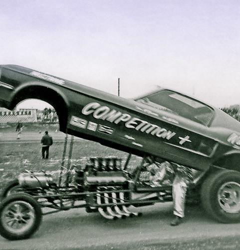 Midwest Championship fuel funny car winner Steve McKesson w