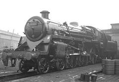 BR class 4 4-6-0 no.75040. Darlington works. 18 January 1964 (ricsrailpics) Tags: uk br steam works darlington standard 1964 460 class4